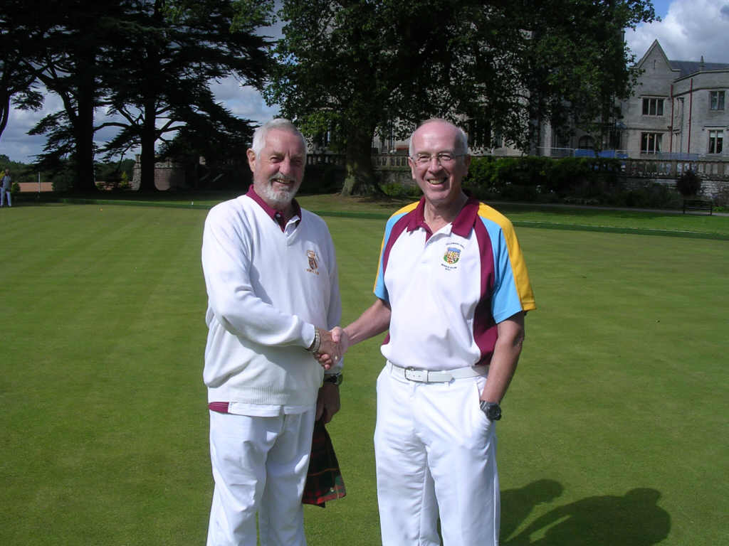 bowlers shaking hands